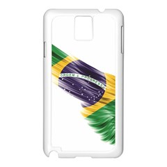 Flag Of Brazil Samsung Galaxy Note 3 N9005 Case (white)
