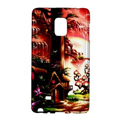 Fantasy Art Story Lodge Girl Rabbits Flowers Galaxy Note Edge by Sapixe