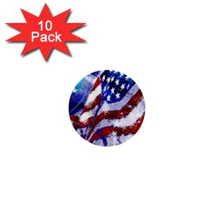 Flag Usa United States Of America Images Independence Day 1  Mini Buttons (10 Pack)