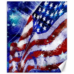 Flag Usa United States Of America Images Independence Day Canvas 8  X 10  by Sapixe