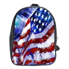 Flag Usa United States Of America Images Independence Day School Bag (large)