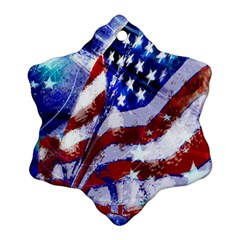 Flag Usa United States Of America Images Independence Day Ornament (snowflake)