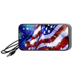 Flag Usa United States Of America Images Independence Day Portable Speaker by Sapixe