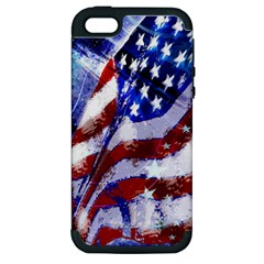 Flag Usa United States Of America Images Independence Day Apple Iphone 5 Hardshell Case (pc+silicone) by Sapixe