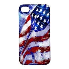 Flag Usa United States Of America Images Independence Day Apple Iphone 4/4s Hardshell Case With Stand by Sapixe