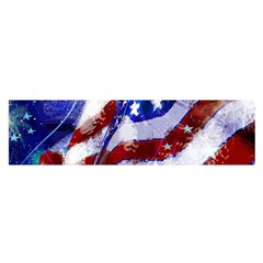 Flag Usa United States Of America Images Independence Day Satin Scarf (oblong) by Sapixe