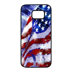 Flag Usa United States Of America Images Independence Day Samsung Galaxy S7 Edge Black Seamless Case by Sapixe