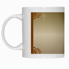Floral Decoration White Mugs