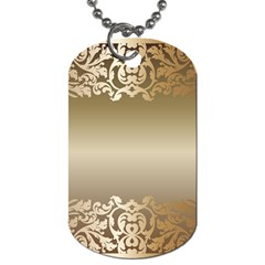 Floral Decoration Dog Tag (two Sides)