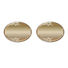 Floral Decoration Cufflinks (oval) by Sapixe
