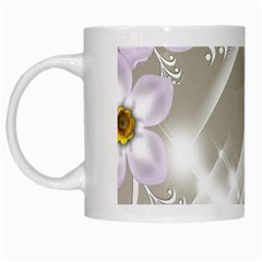 Floral Delight White Mugs