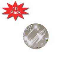Floral Delight 1  Mini Buttons (10 Pack)