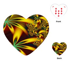 Floral Design Computer Digital Art Design Illustration Playing Cards (heart)  by Sapixe