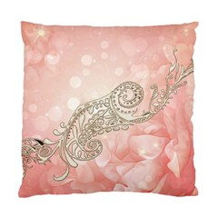 Wonderful Soft Flowers With Floral Elements Standard Cushion Case (one Side) by FantasyWorld7