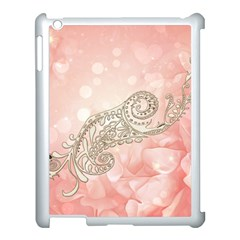 Wonderful Soft Flowers With Floral Elements Apple Ipad 3/4 Case (white) by FantasyWorld7