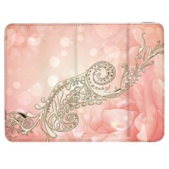 Wonderful Soft Flowers With Floral Elements Samsung Galaxy Tab 7  P1000 Flip Case by FantasyWorld7