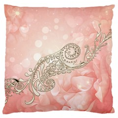 Wonderful Soft Flowers With Floral Elements Standard Flano Cushion Case (one Side) by FantasyWorld7