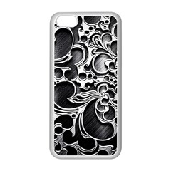 Floral High Contrast Pattern Apple Iphone 5c Seamless Case (white)