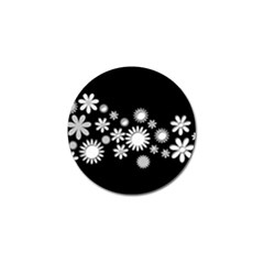 Flower Power Flowers Ornament Golf Ball Marker by Sapixe