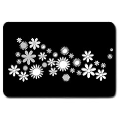 Flower Power Flowers Ornament Large Doormat  by Sapixe