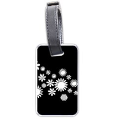 Flower Power Flowers Ornament Luggage Tags (two Sides) by Sapixe