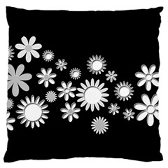 Flower Power Flowers Ornament Large Cushion Case (one Side) by Sapixe