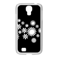 Flower Power Flowers Ornament Samsung Galaxy S4 I9500/ I9505 Case (white) by Sapixe