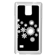 Flower Power Flowers Ornament Samsung Galaxy Note 4 Case (white) by Sapixe