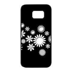 Flower Power Flowers Ornament Samsung Galaxy S7 Edge Black Seamless Case by Sapixe