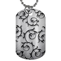 Floral Dog Tag (one Side)
