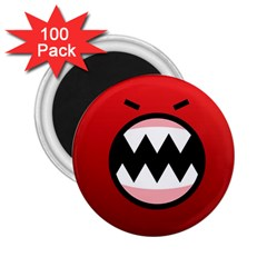 Funny Angry 2 25  Magnets (100 Pack)  by Sapixe