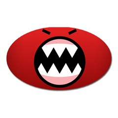 Funny Angry Oval Magnet