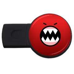 Funny Angry Usb Flash Drive Round (2 Gb) by Sapixe