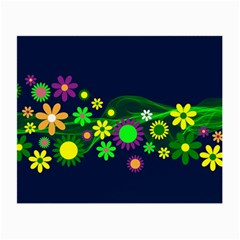 Flower Power Flowers Ornament Small Glasses Cloth (2 Side) by Sapixe