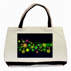 Flower Power Flowers Ornament Basic Tote Bag (two Sides) by Sapixe