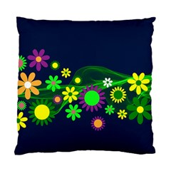 Flower Power Flowers Ornament Standard Cushion Case (two Sides)