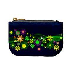 Flower Power Flowers Ornament Mini Coin Purses by Sapixe