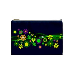 Flower Power Flowers Ornament Cosmetic Bag (medium)  by Sapixe