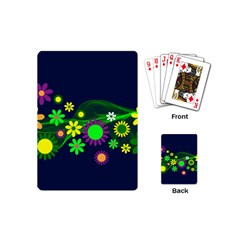 Flower Power Flowers Ornament Playing Cards (mini)  by Sapixe
