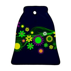 Flower Power Flowers Ornament Ornament (bell) by Sapixe