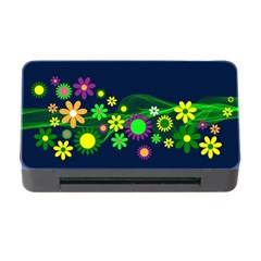 Flower Power Flowers Ornament Memory Card Reader With Cf by Sapixe