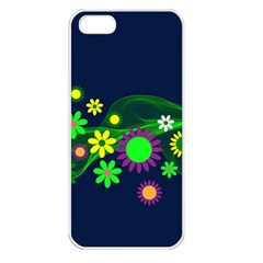 Flower Power Flowers Ornament Apple Iphone 5 Seamless Case (white) by Sapixe