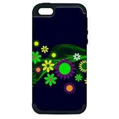 Flower Power Flowers Ornament Apple Iphone 5 Hardshell Case (pc+silicone) by Sapixe