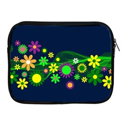 Flower Power Flowers Ornament Apple Ipad 2/3/4 Zipper Cases by Sapixe