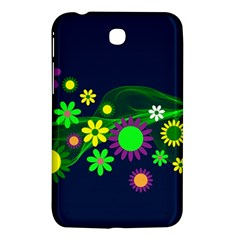 Flower Power Flowers Ornament Samsung Galaxy Tab 3 (7 ) P3200 Hardshell Case  by Sapixe