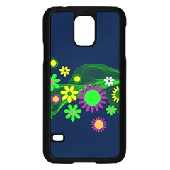 Flower Power Flowers Ornament Samsung Galaxy S5 Case (black) by Sapixe