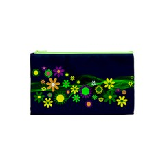 Flower Power Flowers Ornament Cosmetic Bag (xs)