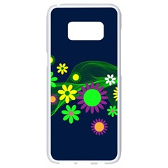 Flower Power Flowers Ornament Samsung Galaxy S8 White Seamless Case by Sapixe
