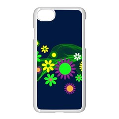 Flower Power Flowers Ornament Apple Iphone 8 Seamless Case (white) by Sapixe