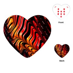 Fractal Mathematics Abstract Playing Cards (heart)  by Sapixe